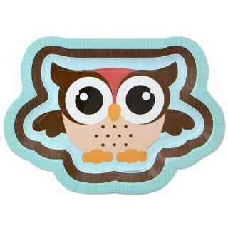 Owl   Look Whooo's Having A Baby   Dinner Plates   8 Qty/Pack   Baby Shower Tableware: Toys & Games