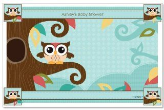 Owl   Look Whooo's Having A Baby   Baby Shower Personalized Placemats: Toys & Games