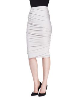 Womens Crush Jersey Pencil Skirt   Donna Karan   Dust (SMALL)