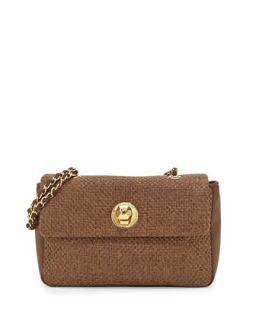 Borsa Woven Crossbody Bag, Brown   Moschino
