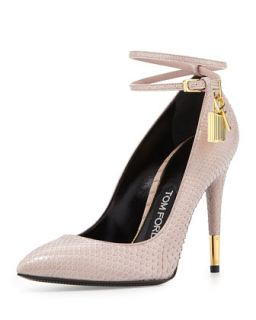 Python Lock High Heel Pointed Toe Pump, Nude   Tom Ford   Nude (36.0B/6.0B)