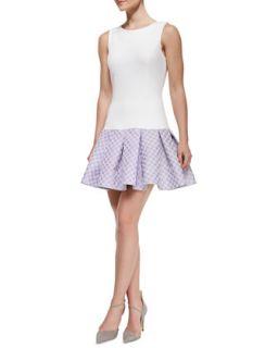 Womens Audrey Sleeveless Flounce Skirt Cocktail Dress   Erin by Erin