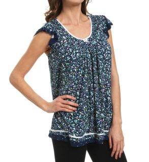 Ellen Tracy 8415314 Making A Splash Short Sleeve Top