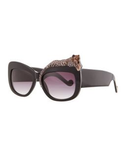 Rose et la Mer Leopard Sunglasses, Black   Anna Karin Karlsson   Black