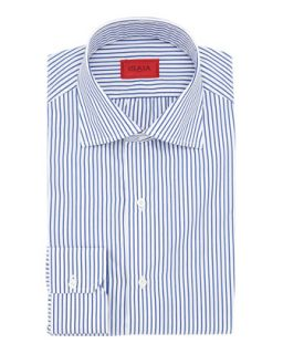 Mens Clear Blue Striped Shirt   Isaia   Blue (18)