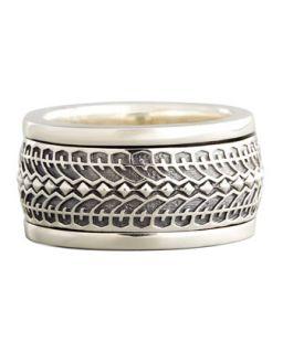 Mens Silver Tire Spinner Ring   Stephen Webster   Silver (11)
