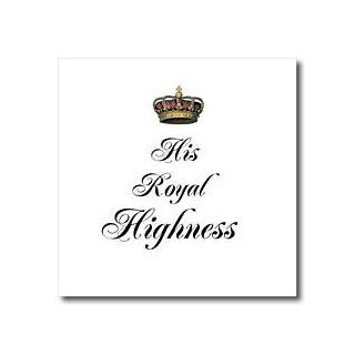 ht_112871_3 InspirationzStore His and Hers gifts   His Royal Highness   part of a his and hers couples gift set   funny king   humorous prince humor   Iron on Heat Transfers   10x10 Iron on Heat Transfer for White Material Patio, Lawn & Garden