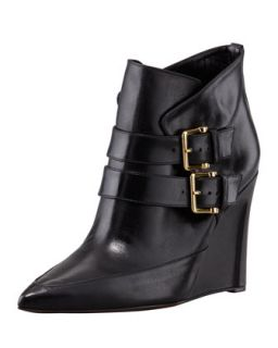 Marta Buckled Wedge Bootie, Black   Derek Lam   Black (38.5B/8.5B)