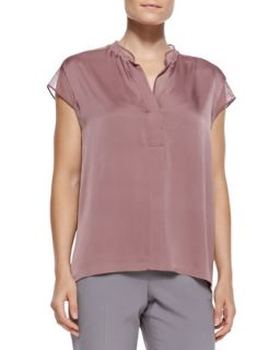 Womens Eva Stretch Georgette Blouse   Elie Tahari   Dusted rose (SMALL 4 6)