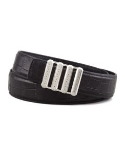 Mens Crocodile Belt, Black   Stefano Ricci   Black (40)