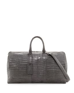Mens Speedy Crocodile Duffle Bag, Charcoal   Santiago Gonzalez   Charcoal