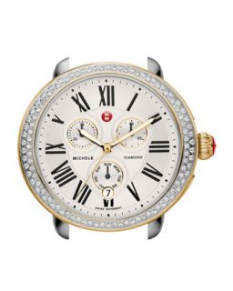 Serein Diamond Two Tone Watch Head   MICHELE   Silver gold