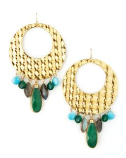 Gold Circle Earrings   Devon Leigh   Gold