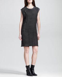 Womens Washed Silk Raglan Sack Dress   HELMUT Helmut Lang   Black (LARGE/10 12)