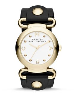 Molly Analog Watch, Yellow Golden/Black   MARC by Marc Jacobs   Black
