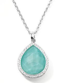 Stella Teardrop Pendant Necklace in Turquoise Doublet with Diamonds   Ippolita