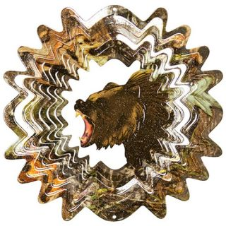 Iron Stop Mossy Oak Bear Wind Spinner   MOD035 10   Wind Spinners