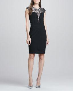 Womens Iris Sweetheart Combo Dress   Erin by Erin Fetherston   Black (4)