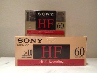 Sony C60 HF Hi Fi Recording Blank Audio Cassettes   Case of 100 Electronics