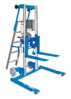 "Genie Lift, GL  10, Straddle Base with Ladder, Heavy Duty Aluminum Manual Lift, 350 lbs Load Capacity, Lift Height 11' 8"" from Ground Level: Material Lifts: Industrial & Scientific"