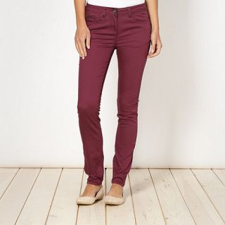 Red Herring Dark red Holly super skinny jeans