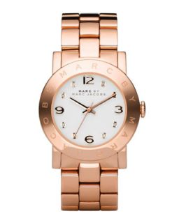 Amy Crystal Analog Watch with Bracelet, Rose Golden   MARC by Marc Jacobs