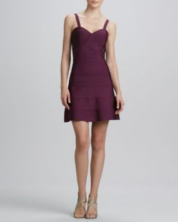 Womens A line Knit Cocktail Dress   Erin by Erin Fetherston   Amaranth (LARGE)