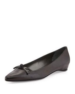 Cleavage Pointy Toe Flat, Black   Stuart Weitzman   Black (9B)