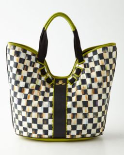 Courtly Check Large Tote   MacKenzie Childs