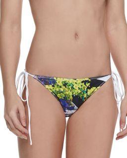 Womens Space Garden Print String Bikini Bottom   Clover Canyon   Multi (X