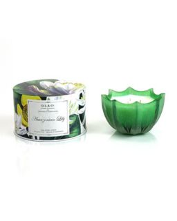 ian Lily Scalloped Three Wick Candle, 15oz   D.L. & Company   (15oz ,5oz )