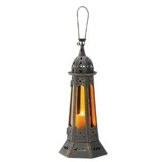 Gifts & Decor Gothic Tower Candle Holder, Bronze   Decorative Candle Lanterns