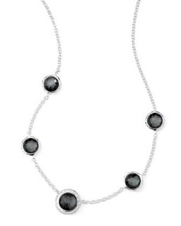 Stella Necklace in Hematite Doublet & Diamonds 16 18   Ippolita   Gray