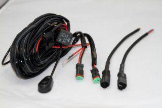 LEDSTORE Universal Wiring Harness with ON/OFF Switch for Off Road LED Light Bars and LED Work Light Lamps ATV, UTV, Truck, SUV, Polaris Razor RZR, Rigid, Yamaha, Ranger, HID Flood Lights Automotive