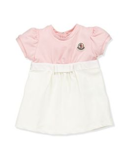 Completo Colorblock Dress, Pink/Cream, 3 24 Months   Moncler   Pink cream (6M