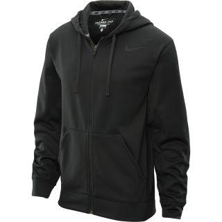 NIKE Mens KO Full Zip Training Hoodie   Size L, Black/black