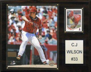 MLB Los Angeles Angels C.J. Wilson Player Plaque : Sports Fan Decorative Plaques : Sports & Outdoors