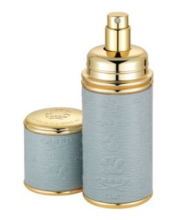 Logo Etched Leather Atomizer, Gold/Gray   Creed   Gray
