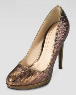 Chelsea Sequined High Heel Pump, Bronze   Cole Haan   Bronze oil spill (39.0B/9.