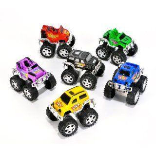 12 Assorted Color/Style Monster Trucks   Monster Pullback Trucks   12 per unit Toys & Games