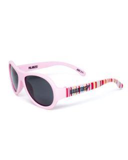 Polarized Kids Sunglasses, Pink, Ages 0 3   Babiators   Pink pattern (0 3Y)