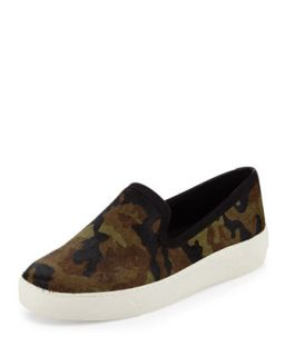 Becker Camouflage Calf Hair Slip On, Olive   Sam Edelman   Olive (8 1/2B)