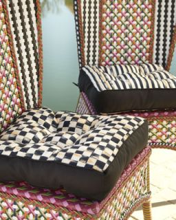 Reversible Chair Cushion   MacKenzie Childs