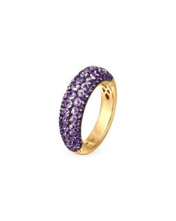 18k Gold Classic Chain Violet Sapphire Slim Dome Ring   John Hardy