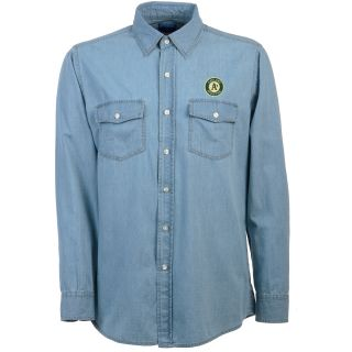 Antigua Oakland Athletics Mens Long Sleeve Chambray Shirt   Size: Medium,