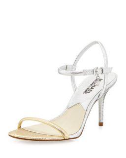 Carlene Naked Sandal   MICHAEL Michael Kors   Silver/Gold (38.5B/8.5B)