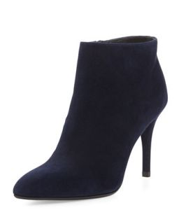 Carltone Suede Bootie, Nice Blue (Made to Order)   Stuart Weitzman   Nice blue