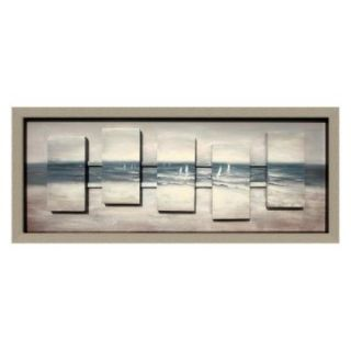Yosemite Home Decor Grey Sails Wall Art   45W x 16H in.   Hand Painted Art