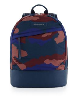 Kastrup Mens Camo Print Backpack, Blue Multi   WANT Les Essentiels de la Vie