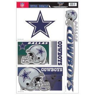 Dallas Cowboys Static Cling Decal Sheet  Sports Fan Automotive Accessories  Sports & Outdoors